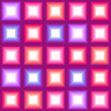 Shining multicolor square lights seamless background Stock Photography