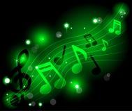 Shining musical notes Royalty Free Stock Photos