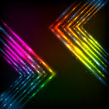 Shining neon arrows abstract vector background Royalty Free Stock Image