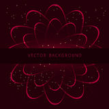 Shining neon vector cosmic flower Stock Images