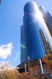 Shining office. Sunshine reflecting of an office building in Tokyo Royalty Free Stock Images