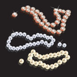 Shining pearl beads Stock Images