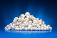 Shining  pearls necklace Stock Photos