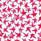 Shining pink stars seamless pattern background. Festive shining stars pattern for celebration party, entertainment themes design with seamless ornament of bright Royalty Free Stock Photography