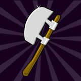 Shining poleaxe icon Stock Photography