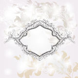 Shining precious invitation card Stock Image