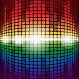 Shining rainbow digital equalizer with flares on Stock Photo