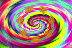 Shining rainbow swirl with small golden elements on rectangular card stock images