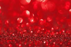Shining red glitter. christmas and romantic background stock photos