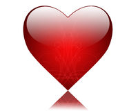 Shining red heart. Isolated big shining red hart Royalty Free Stock Images