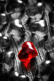 Shining red heart Stock Images