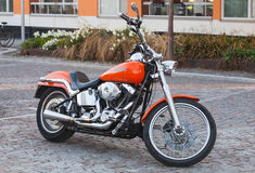 Shining red road motorcycle Harley-Davidson Stock Photography