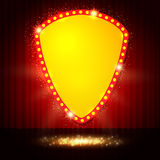 Shining retro casino banner on stage curtain Royalty Free Stock Photography