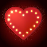 Shining retro heart banner Royalty Free Stock Images