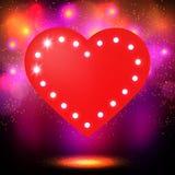 Shining retro heart banner Stock Photos