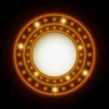 Shining retro light circle abstract banner Stock Photography