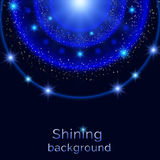 Shining retro light circle abstract banner Royalty Free Stock Photography