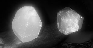 Quart. The shining rock at night that brings light to those who  come near Royalty Free Stock Images