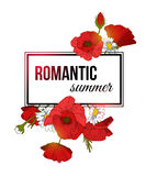 Shining romantic summer typographical background Royalty Free Stock Photo
