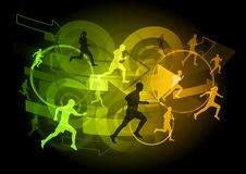 Shining runners Royalty Free Stock Images