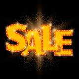 Shining sale background on black Royalty Free Stock Photography