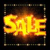 Shining sale background on black Royalty Free Stock Photo