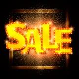 Shining sale background on black Stock Image
