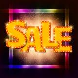 Shining sale background on black Stock Photos