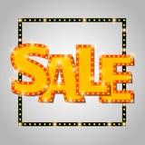 Shining sale background on gray Stock Photo