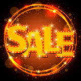 Shining sale on circle frame Stock Images