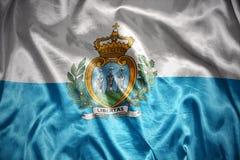 Shining san marino flag Royalty Free Stock Photo