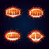 Shining signboards for gambling places or casino vector illustration