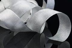 Shining silver ribbon Stock Images