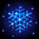 Shining Snowflake Stock Image