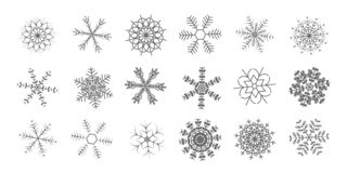 Shining snowflakes icon. vector illustration