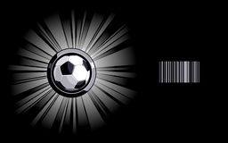 Shining soccer ball Royalty Free Stock Photos