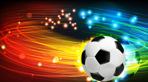 Shining soccer ball Stock Photography
