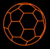 Shining soccerball. Hand painted soccer ball from shining lines Stock Photography