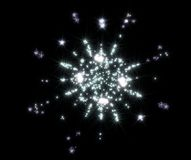 Shining sparkling polygonal snowflake fractal with Stock Images
