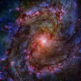 Shining spiral galaxy. Elements of this Image furnished by NASA royalty free stock photography