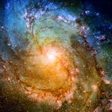 Shining spiral galaxy. Elements of this Image furnished by NASA stock photography
