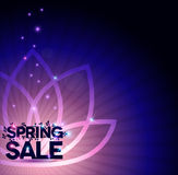 Shining Spring sale poster with flower Stock Photo