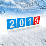 Shining squares with new 2015 year numbers Royalty Free Stock Images