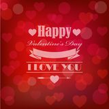 Vector shining st. valentine`s card in retro style Royalty Free Stock Images