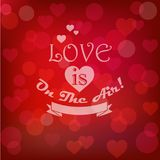 Vector shining st. valentine`s card in retro style Stock Photography