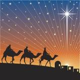 Shining star of Bethlehem. Stock Photos