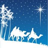 Shining star of Bethlehem. Stock Photo