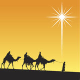 Shining star of Bethlehem. Royalty Free Stock Photos