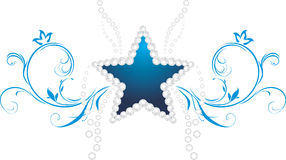 Shining star. Decorative symbol Royalty Free Stock Photos