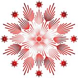 Shining Star red. Red filigree star on white background Stock Photos